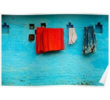 Blue Wall Hangings Poster