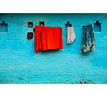 Blue Wall Hangings Photographic Print