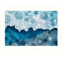Midnight Blue Glacier Art Print