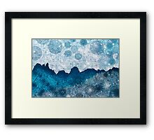 Midnight Blue Glacier Framed Print
