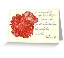 John 13:34 Greeting Card