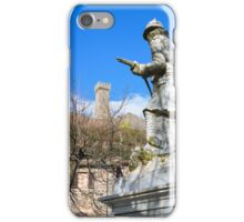 War memorial, Radicofani, Val d'Orcia, Tuscany, Italy iPhone Case/Skin