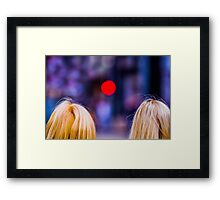 Blondes Are Not Allowed Framed Print