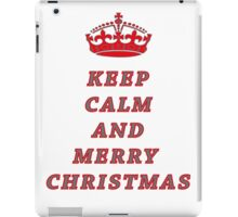 KEEP CALM AND MERRY CHRISTMAS! iPad Case/Skin