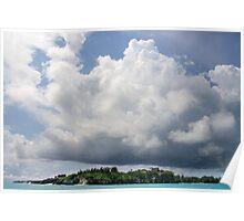 Castle Island under Summer Clouds Poster