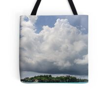 Castle Island under Summer Clouds Tote Bag