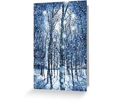 Silvery Moonlight Greeting Card