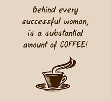 Women + Coffee = Success Womens Fitted T-Shirt