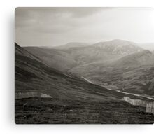 Glenshee ski-run and mountains Canvas Print
