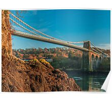 Menai Bridge Landscape Poster