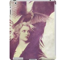 The Lady of Ravens surreal artwork iPad Case/Skin