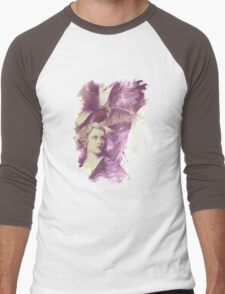 The Lady of Ravens surreal artwork Men's Baseball ¾ T-Shirt