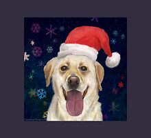 Painting of a Gorgeous Golden Retriever with Red Santa Claus Hat Unisex T-Shirt