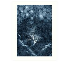 Midnight Ice Storm Art Print