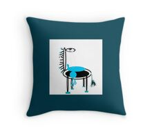 MY PET collectable, blue Throw Pillow