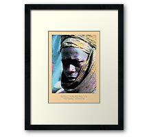 african beauty Framed Print