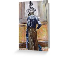 Man in Natural History Museum NYC Greeting Card
