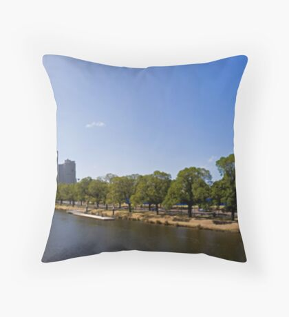 Melbourne Panorama Throw Pillow