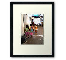 Thai Children Framed Print