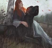 Sansa and Sandor by pinselohr