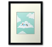 Sleepy Pony Framed Print