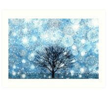 Snow Fills The Air Art Print