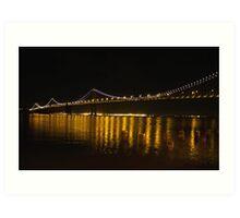 Bay Bridge, San Francisco. Art Print