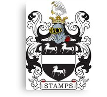 Stamps Coat of Arms Canvas Print