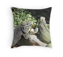 """THINK LIZARDS: """"The Proposal...Lizards in Love"""" Throw Pillow"""