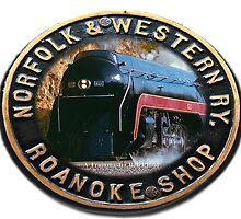 Norfolk & Western #611  -  Builders Plate Oval by TrainmasterBob
