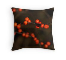 Winterberry Holly Throw Pillow