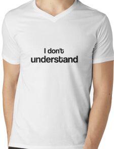 """I don't understand"" - John Watson Mens V-Neck T-Shirt"