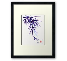 """Relax"" sumi-e ink brush painting/drawing Framed Print"