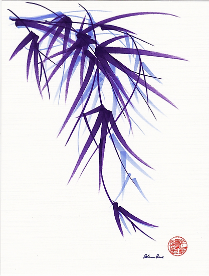 """""""Relax"""" sumi-e ink brush painting/drawing by Rebecca Rees"""