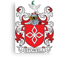 Stowell Coat of Arms Canvas Print