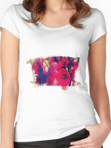 RED  BLOSSOM Women's Fitted Scoop T-Shirt