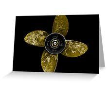 Propeller - Yellow Greeting Card