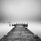 Loch Lomond Misty Pier by Grant Glendinning