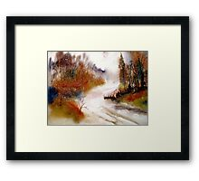 Landscape..Winter Walk Framed Print