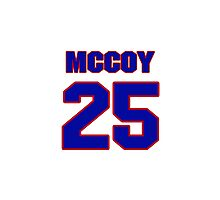 National football player LeSean McCoy jersey 25 Photographic Print