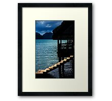 Step down to the Ocean Framed Print