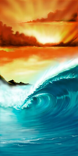 Blue Wave Sunset by ShaneMartin