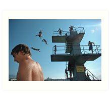 Geneva Lake Divers Art Print