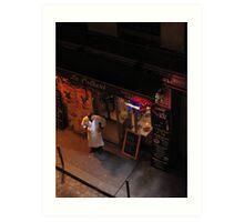 The Chef, a coffee and no patrons - Paris Art Print