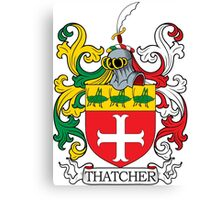 Thatcher Coat of Arms Canvas Print