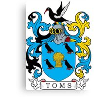Toms Coat of Arms Canvas Print
