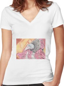 Skeksis - The Dark Crystal Women's Fitted V-Neck T-Shirt