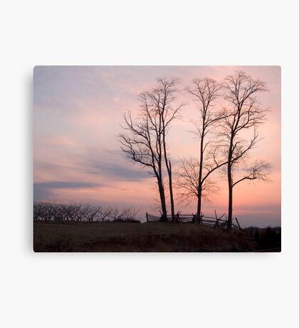 Battlefield Sunset Canvas Print