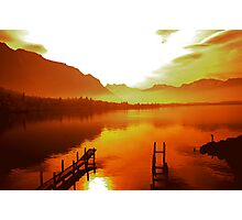 Fire on the water Photographic Print
