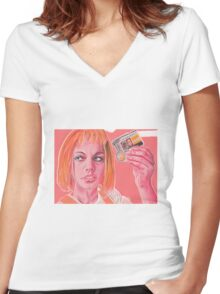 Multipass - The Fifth Element Women's Fitted V-Neck T-Shirt